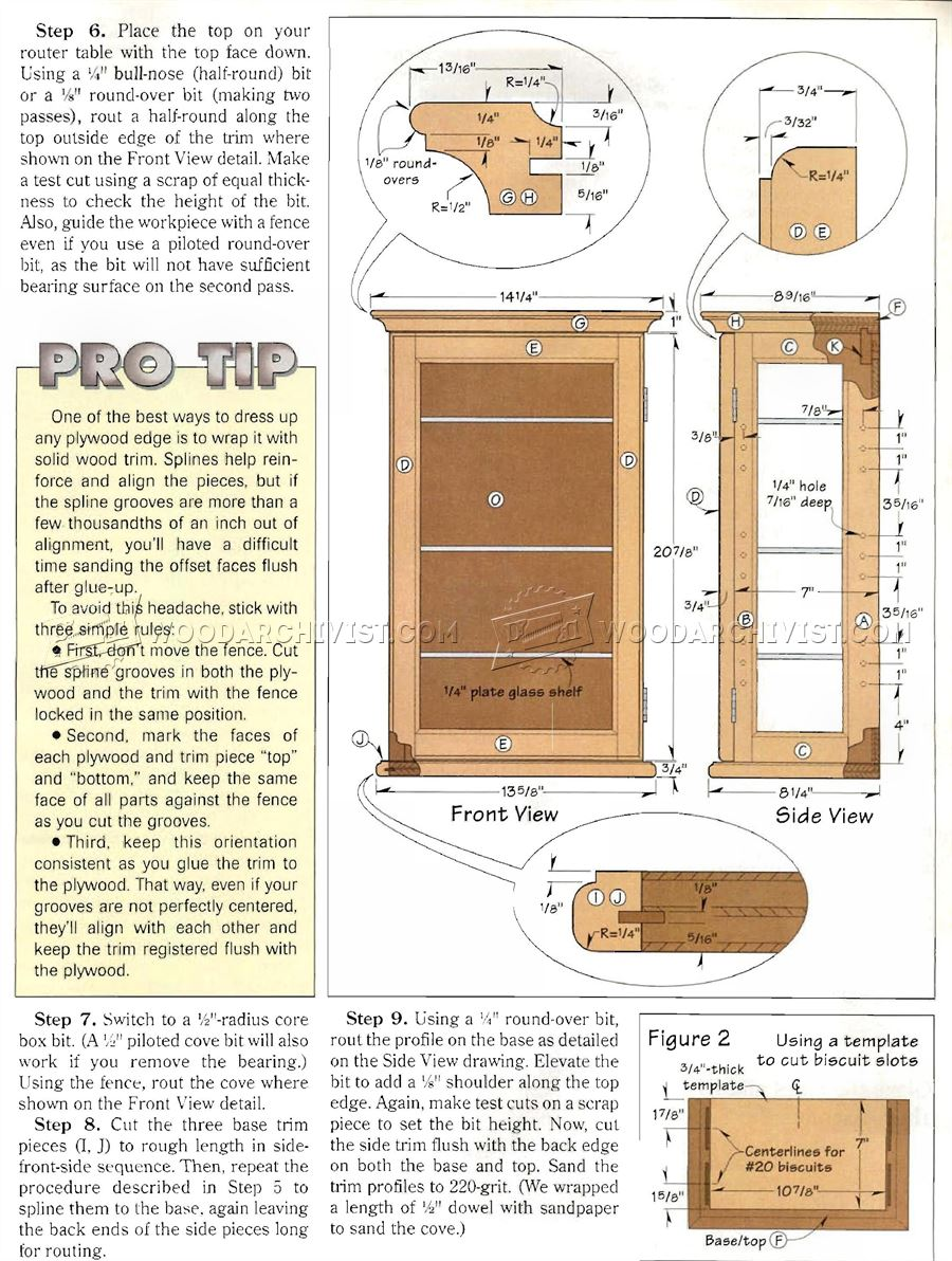 Collectors Display Cabinet Plans