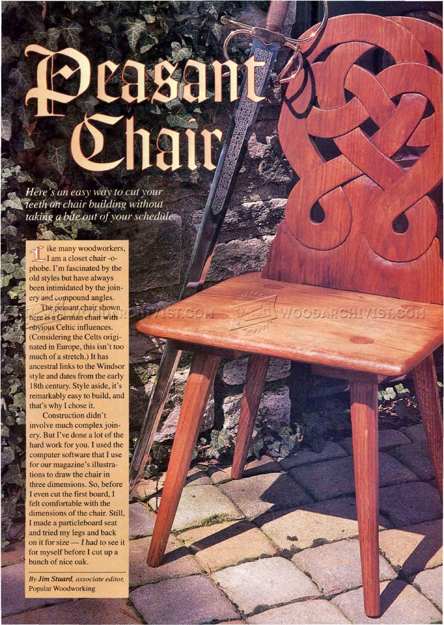 Peasant Chair Plans