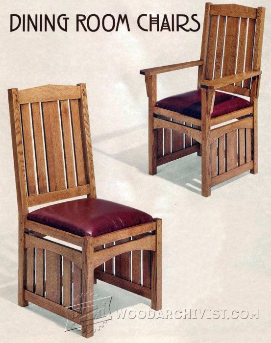 1276 dining room chairs plans woodarchivist