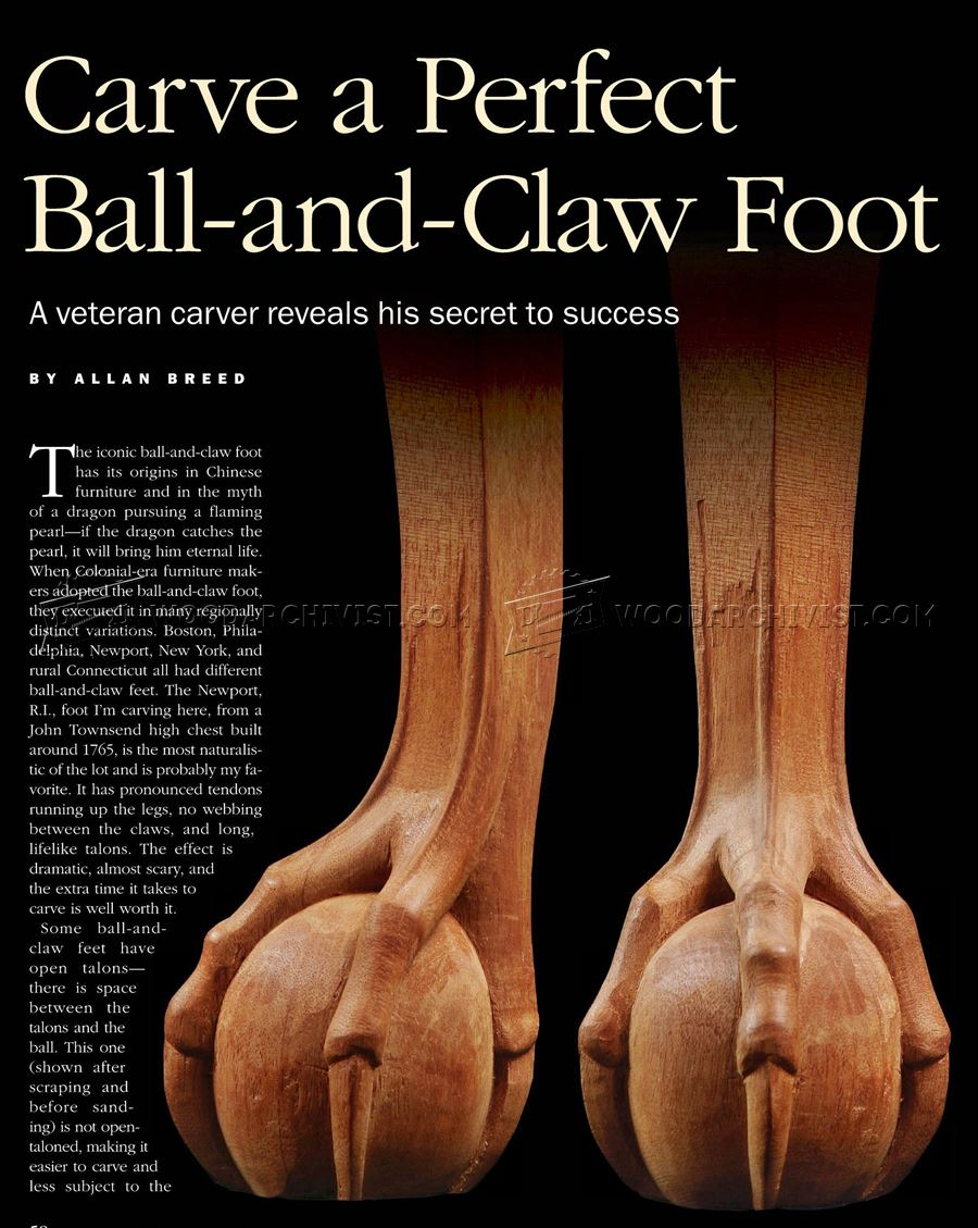 Carving Ball and Claw Foot