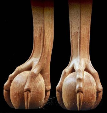 1277-Carving Ball and Claw Foot