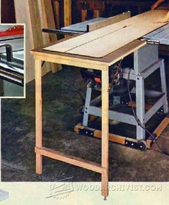 1278-Table Saw Outfeed Table Plans