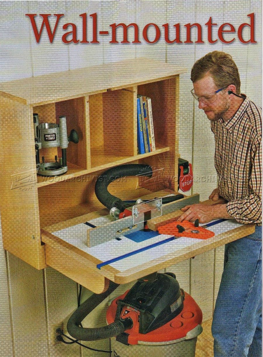 Wall-Mounted Router Table Plans