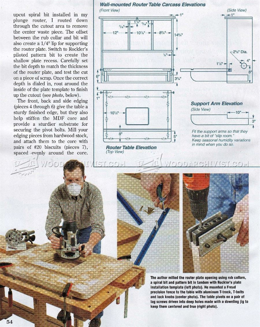 Wall mounted router table plans woodarchivist wall mounted router table plans greentooth