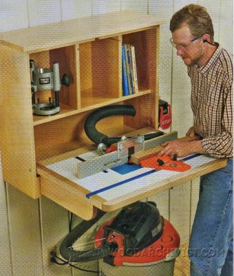1279-Wall-Mounted Router Table Plans