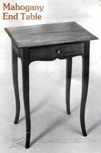 1282-Mahogany End Table Plan