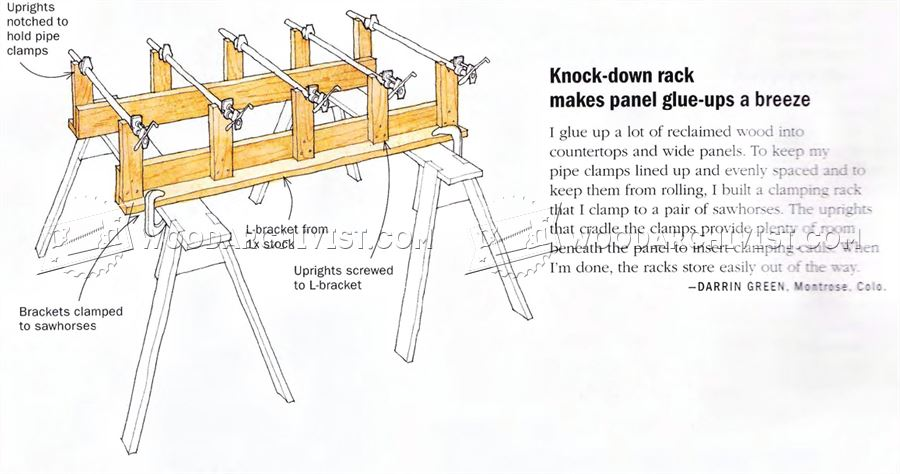 Knock-Down Rack Makes Panel Glue Ups a Breeze