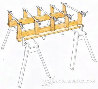 1283-Knock-Down Rack Makes Panel Glue Ups a Breeze