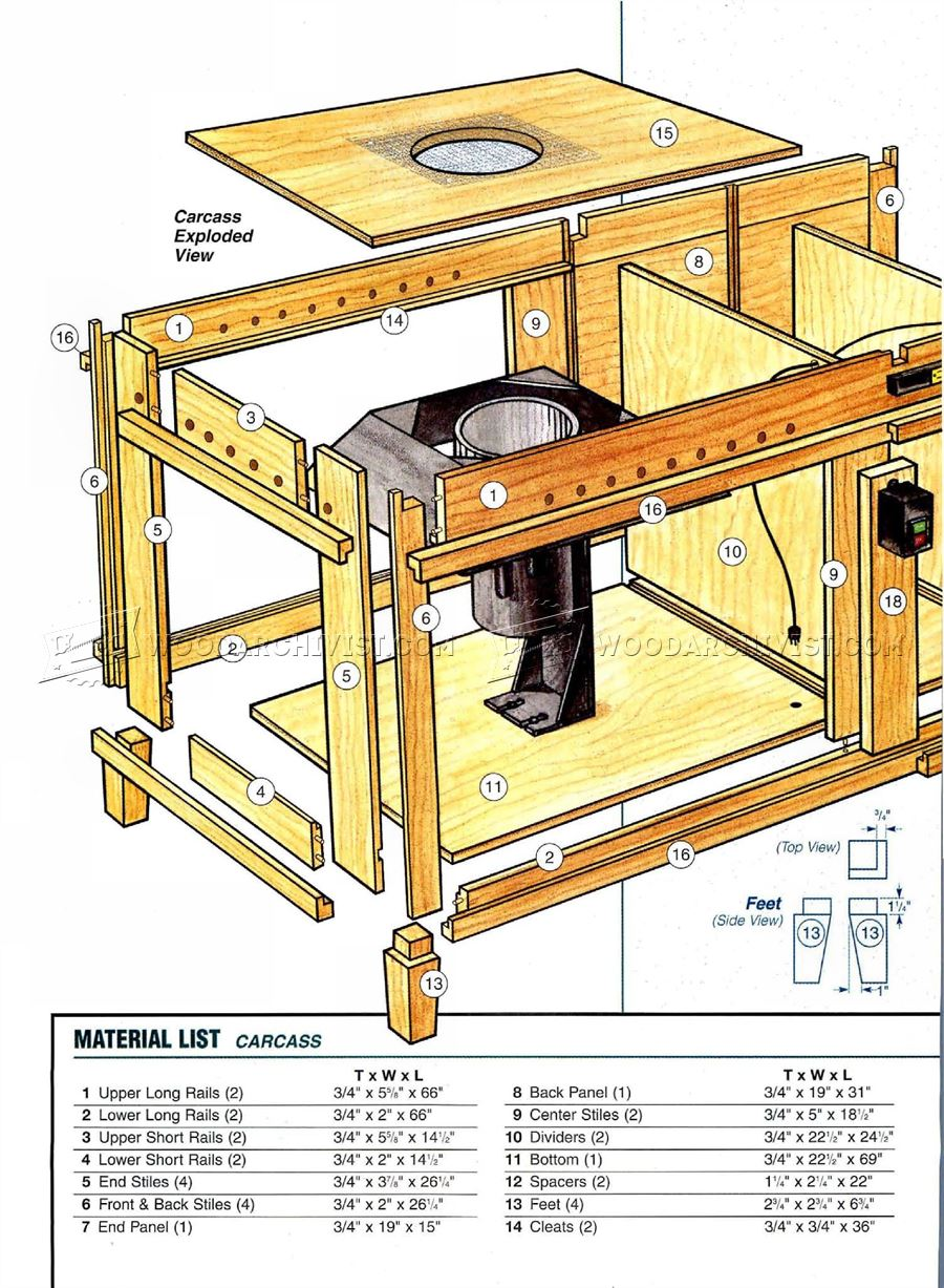 Downdraft Table Plans - Dust Collection Sanding Wood