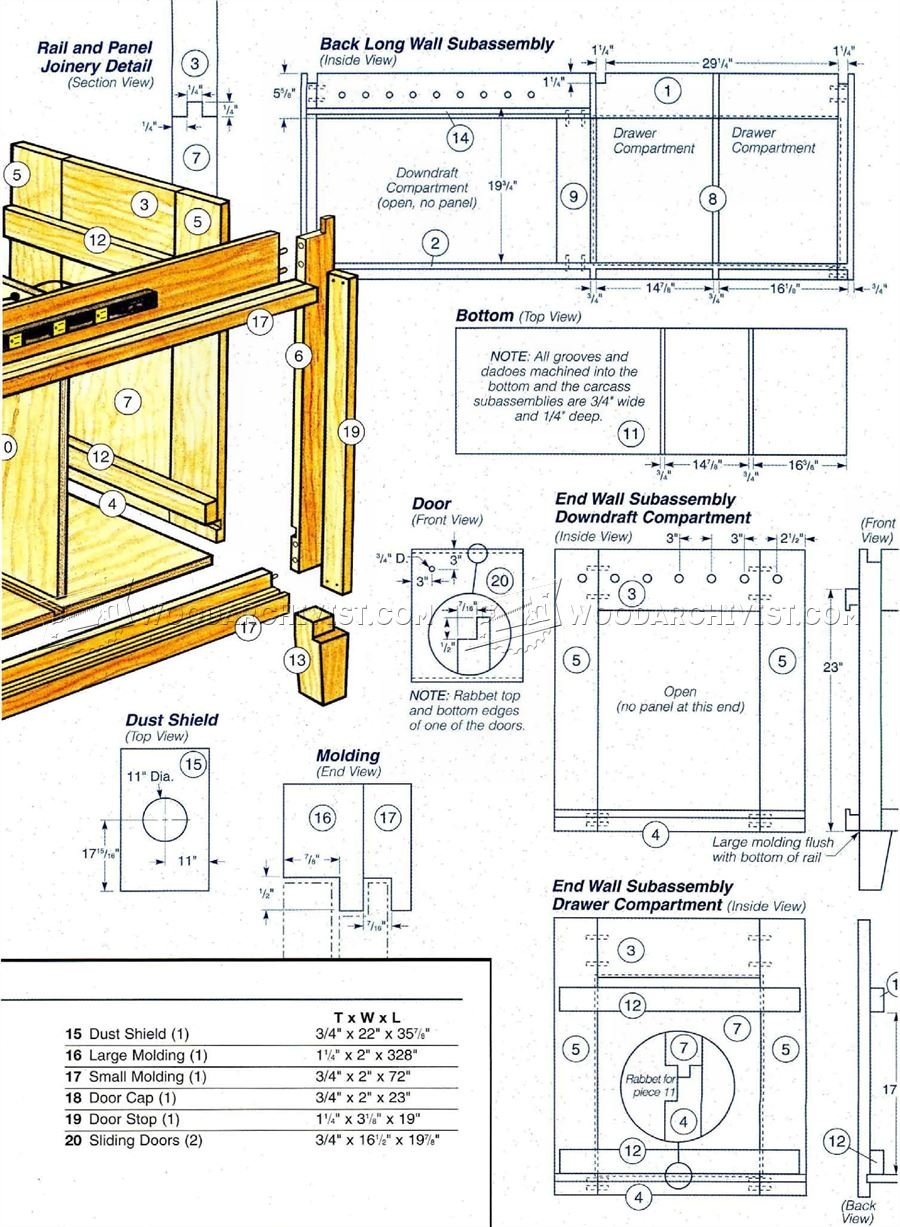 10 Cabinet Saw Pine Cupboard Plans Woodarchivist Built In