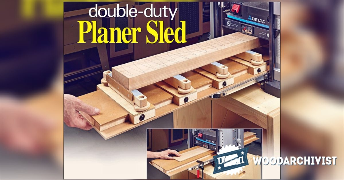 Planer Sled Plan Woodarchivist