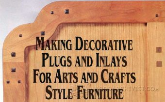 1298-Making Decorative Plugs and Inlays
