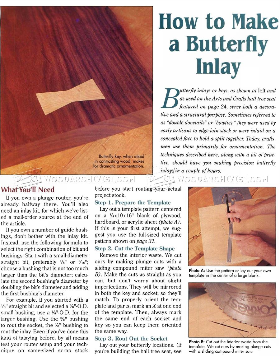 How to Make Butterfly Inlay