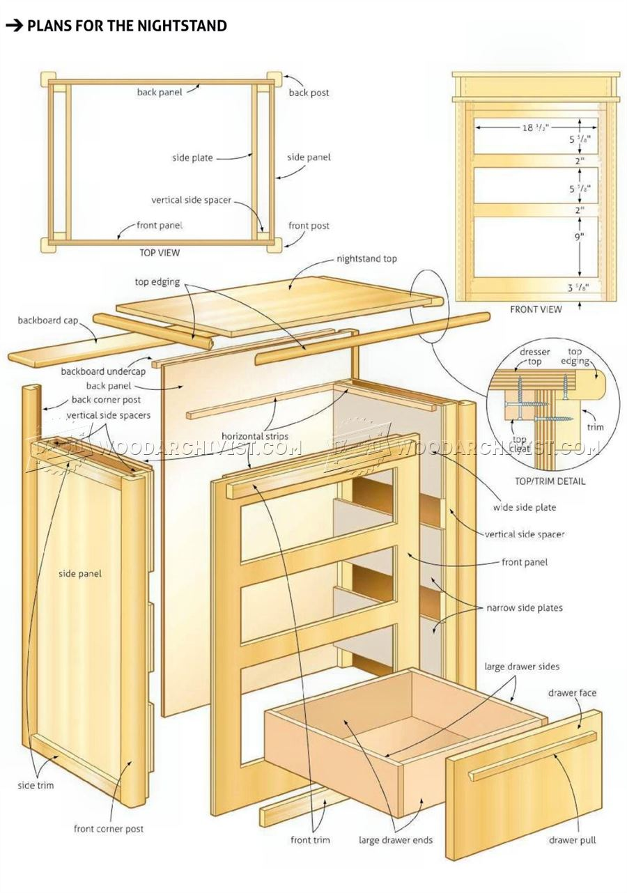 Bed End Nightstand Plans Woodarchivist
