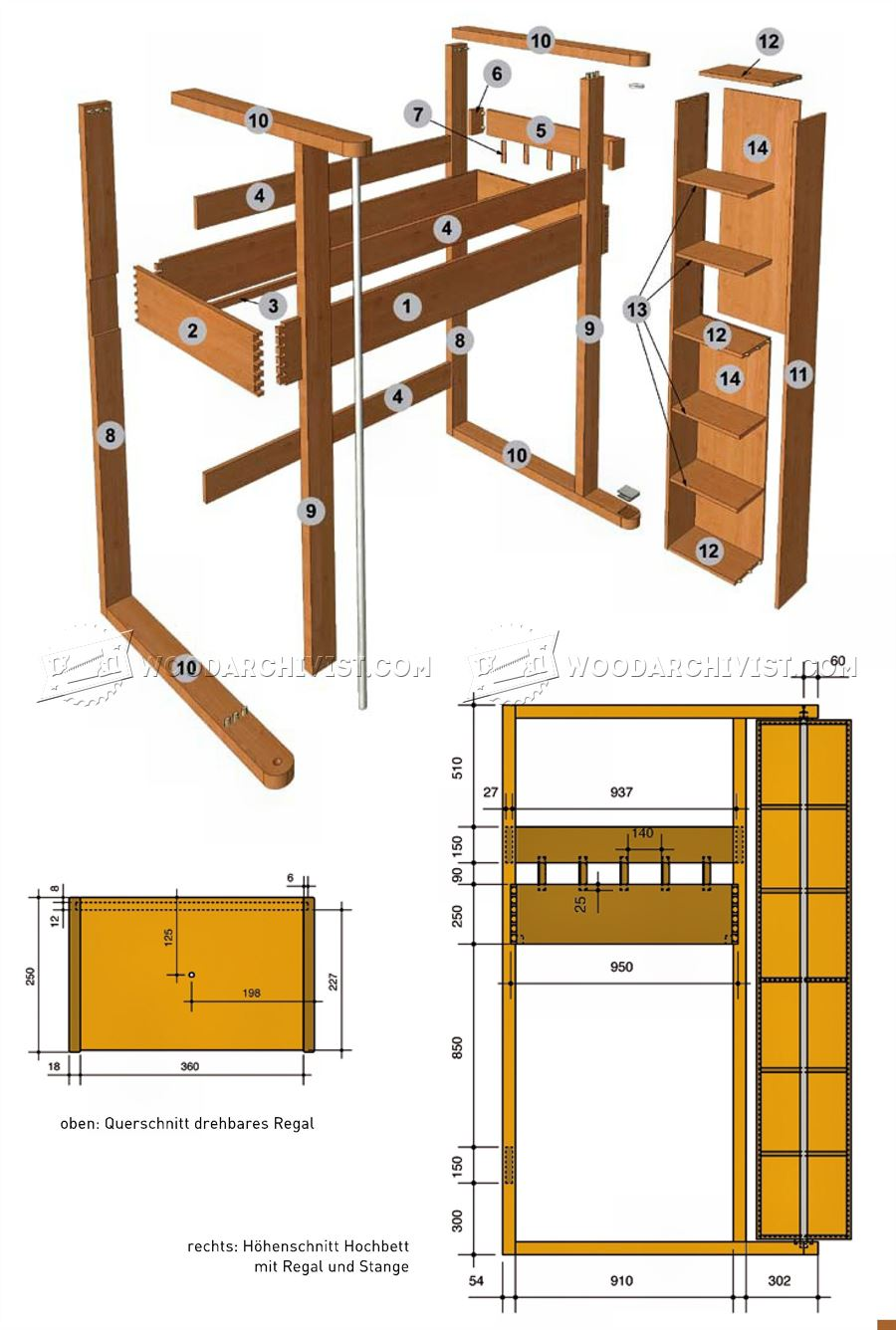 Loft bed plans 100 loft bed joinery designer modern kids Loft bed plans
