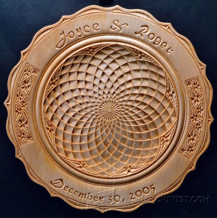 Chip carved wedding plate wood carving patterns