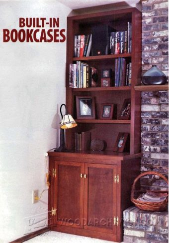 1320-Built-in Bookcase Plans