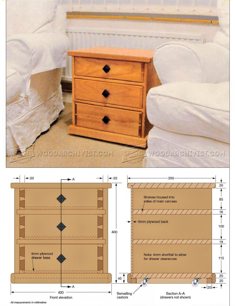Small chest of drawers plans woodarchivist