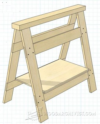 1342-Folding Sawhorse Plan