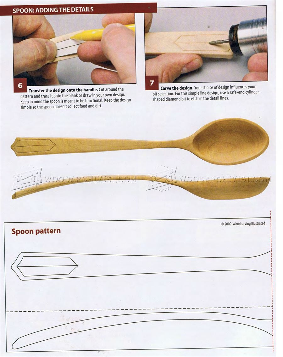 Power Carving Wooden Spoon