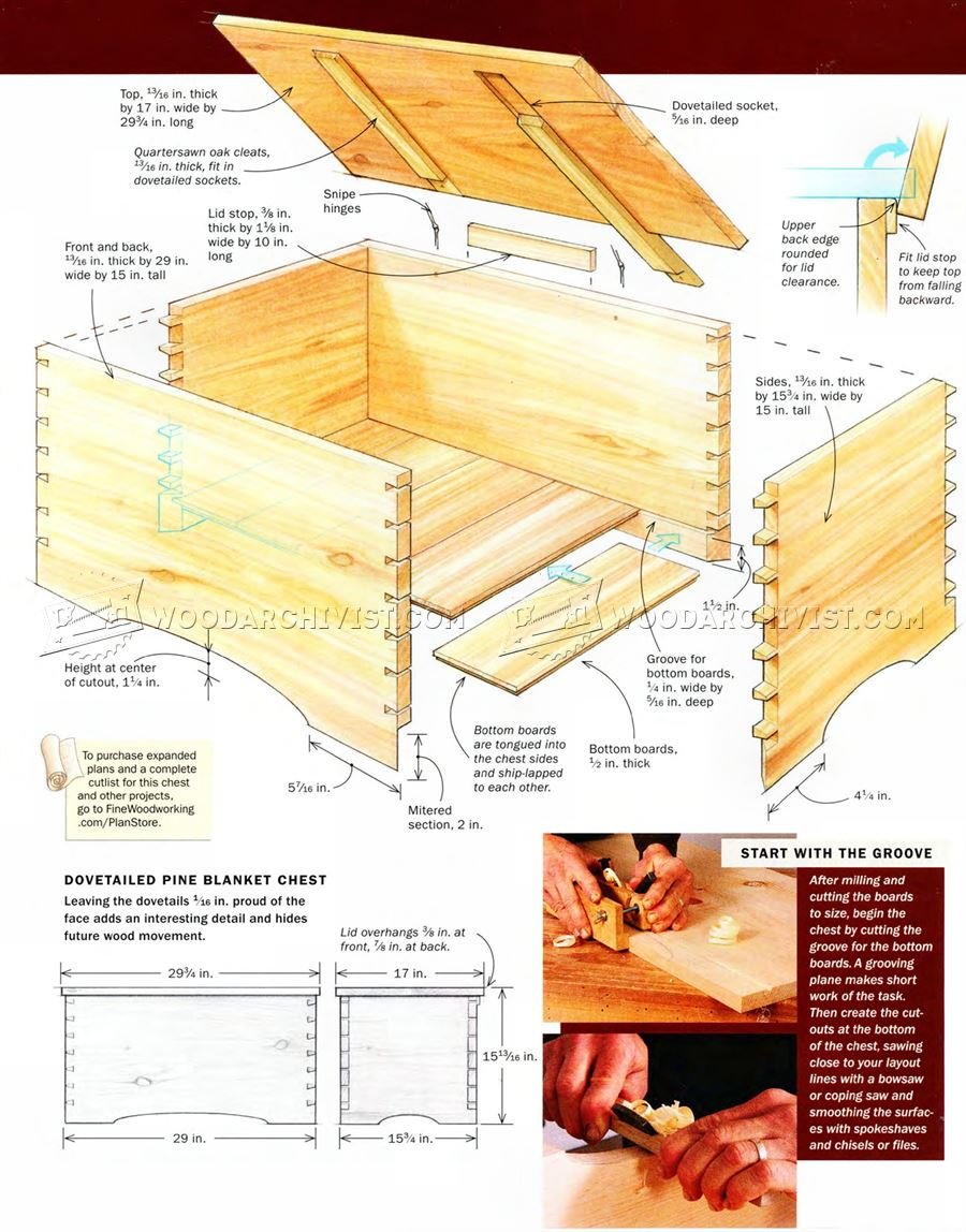 Blanket Chest Plan Woodarchivist