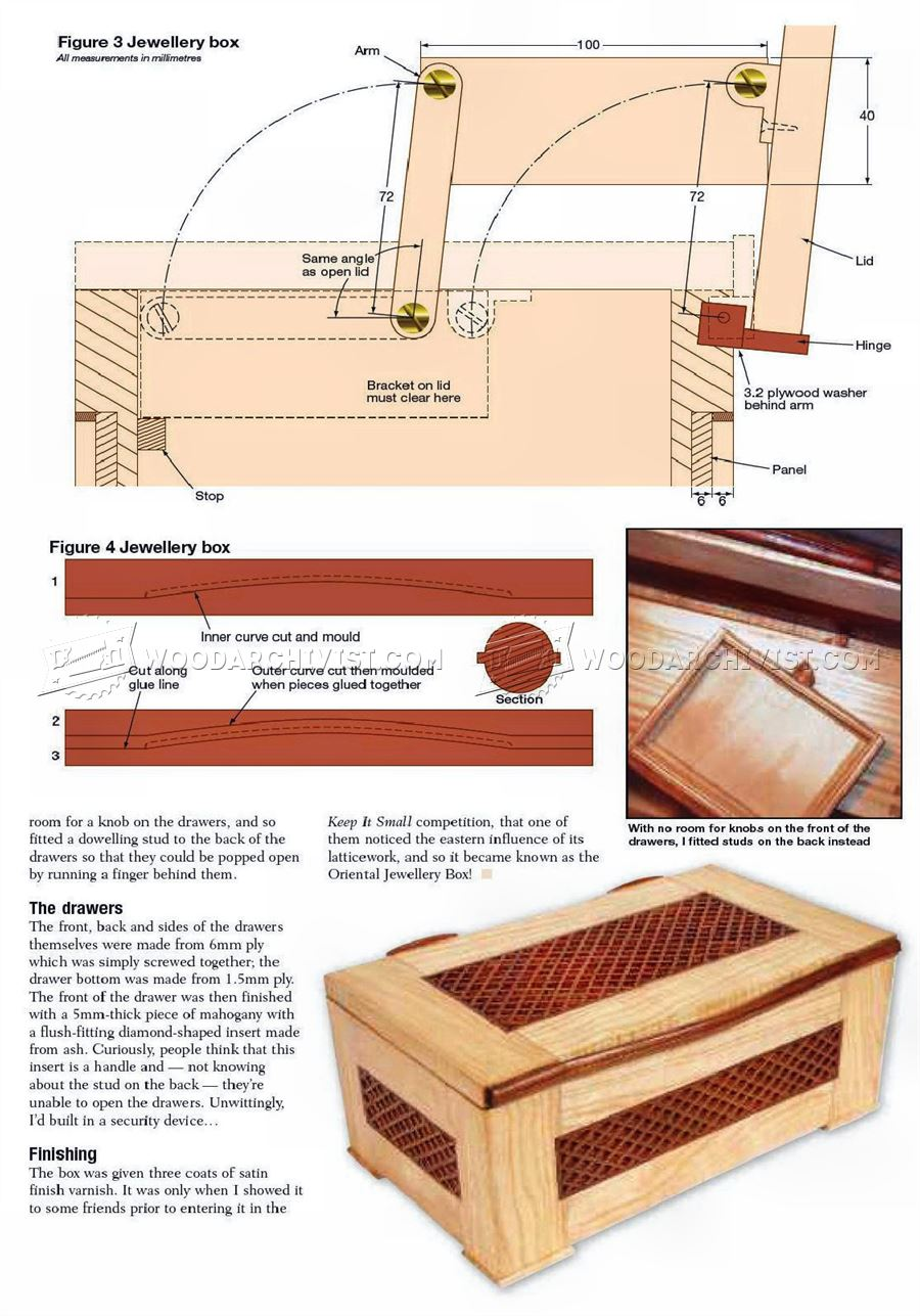Jewellery Box Plan