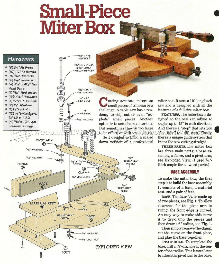 DIY Miter Box - Woodworking Hand Tools