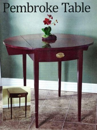 1354-Pembroke Table Plans