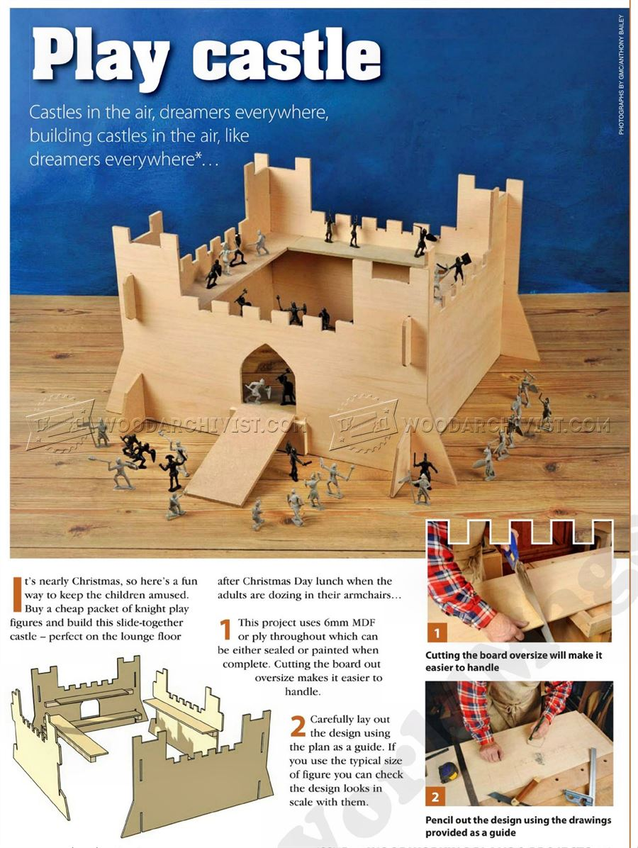 Play castle plans woodarchivist for Play plan