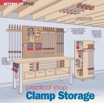 1368-Practical Shop Clamp Storage