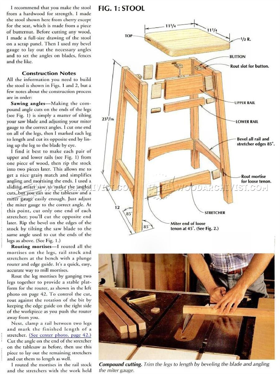 Diy Bar Stool Woodarchivist
