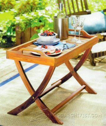 1372-Folding Serving Tray Table Plans