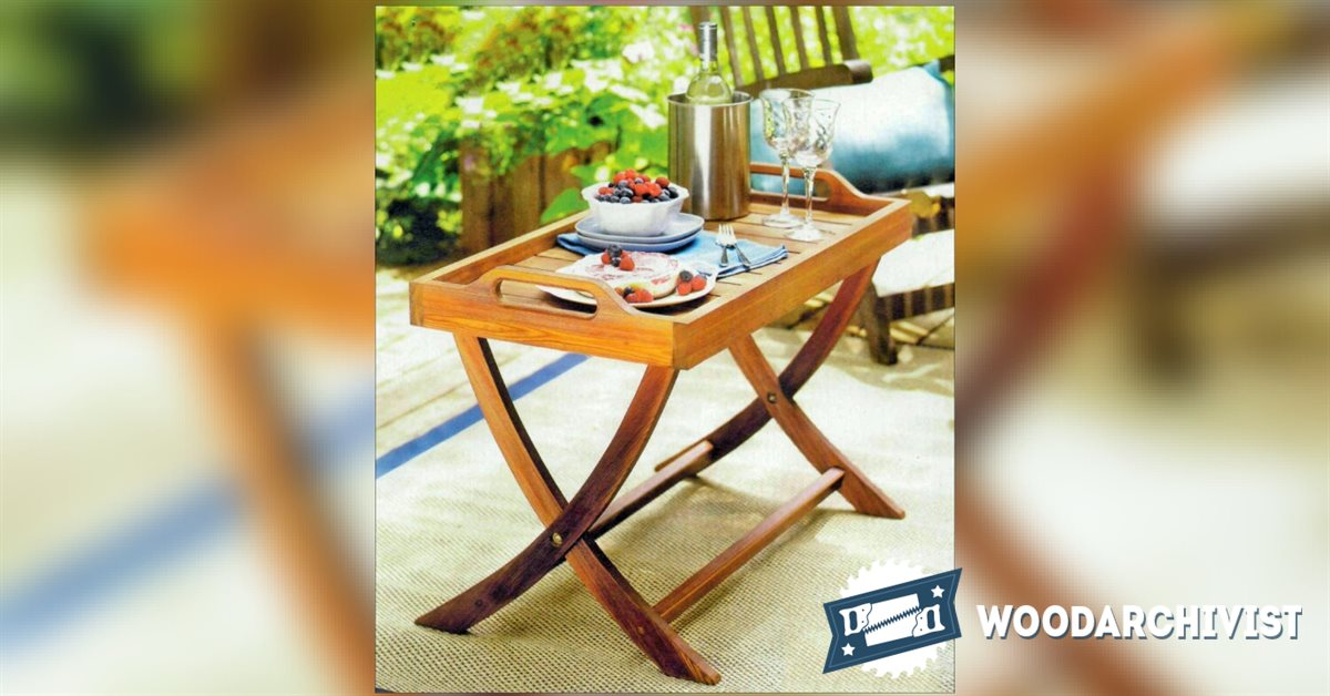 Folding Serving Tray Table Plans Woodarchivist