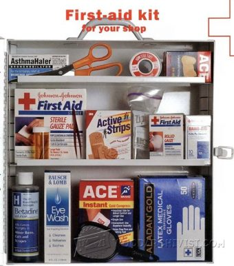 1375-Woodworkers Shop First Aid Kit