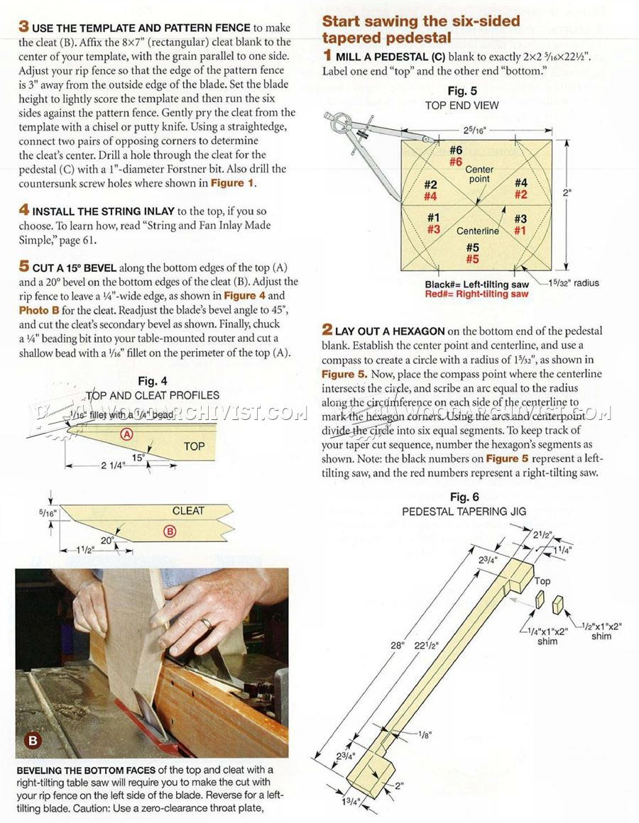 Federal Candle Table Plans