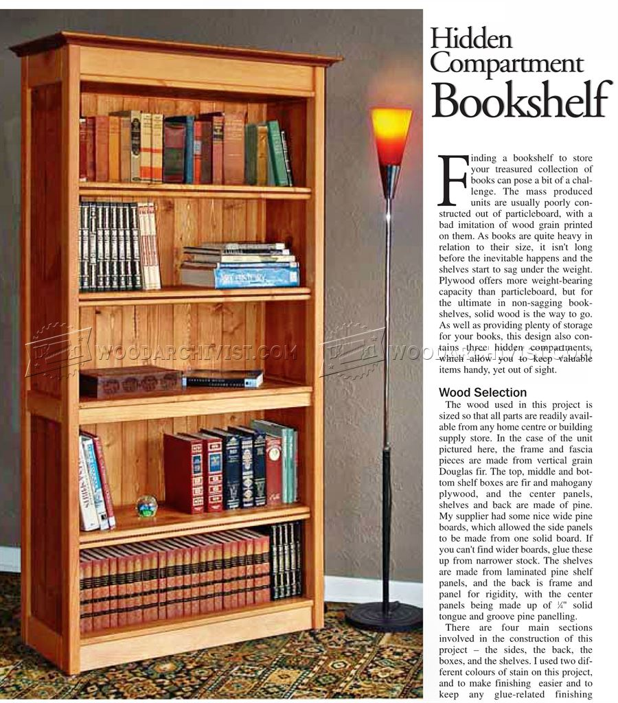1380 Hidden Compartment Bookshelf Plans - Furniture Plans and ...