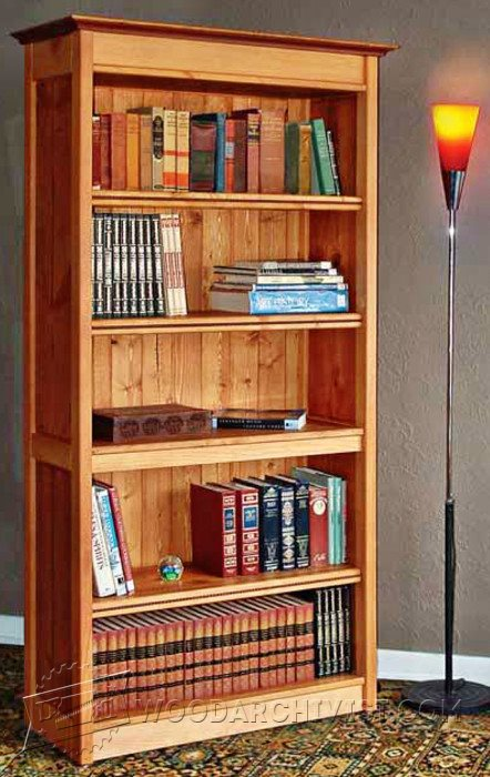 1380 Hidden Compartment Bookshelf Plans Woodarchivist
