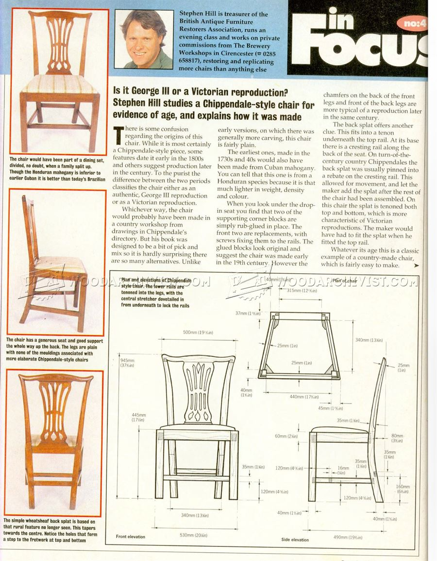Chippendale Chair Plans
