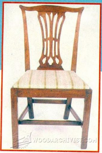 1382-Chippendale Chair Plans