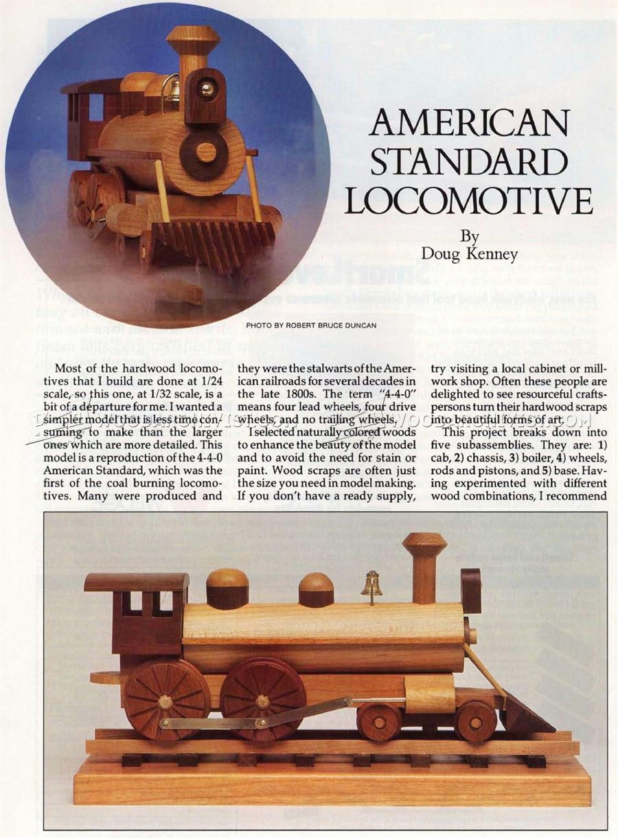 Wooden Locomotive Plans