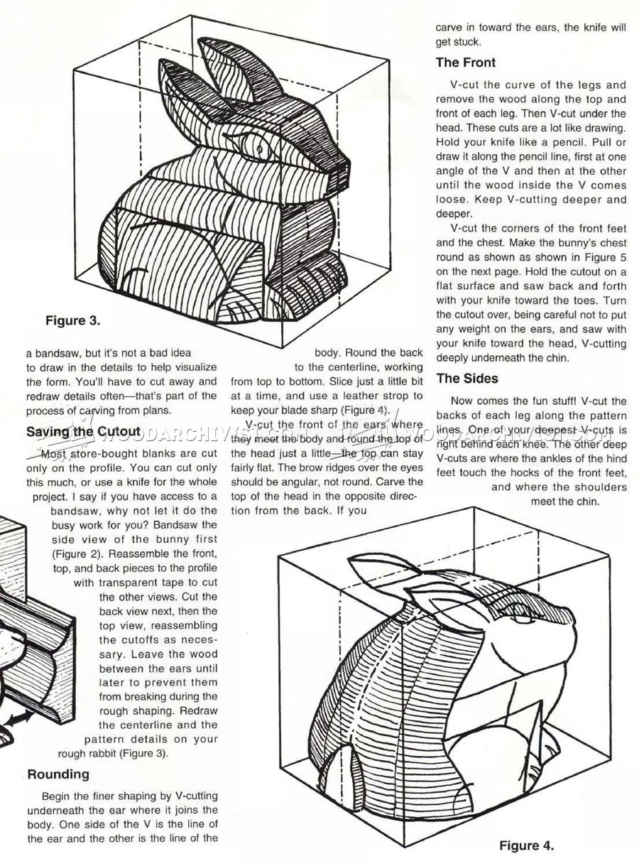 Bunny Carving - Wood Carving Patterns • WoodArchivist