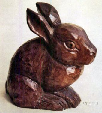1392-Bunny Carving - Wood Carving Patterns