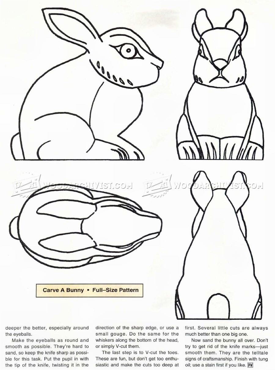 Bunny Carving - Wood Carving Patterns