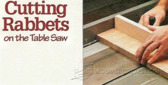 1395-Cutting Rabbets on The Table Saw