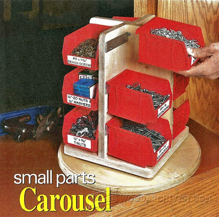 1397 Small Parts Carousel Plan Woodarchivist