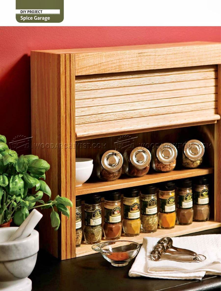 Wooden Spice Rack Plans
