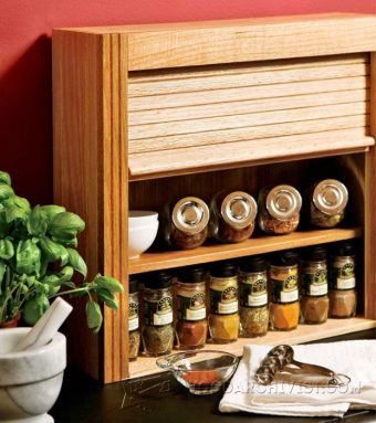 1398-Wooden Spice Rack Plans