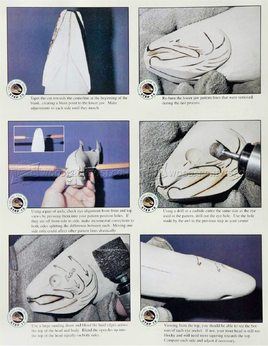 Carving Fish Heads - Wood Carving Patterns