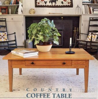 1403-Country Coffee Table Plans