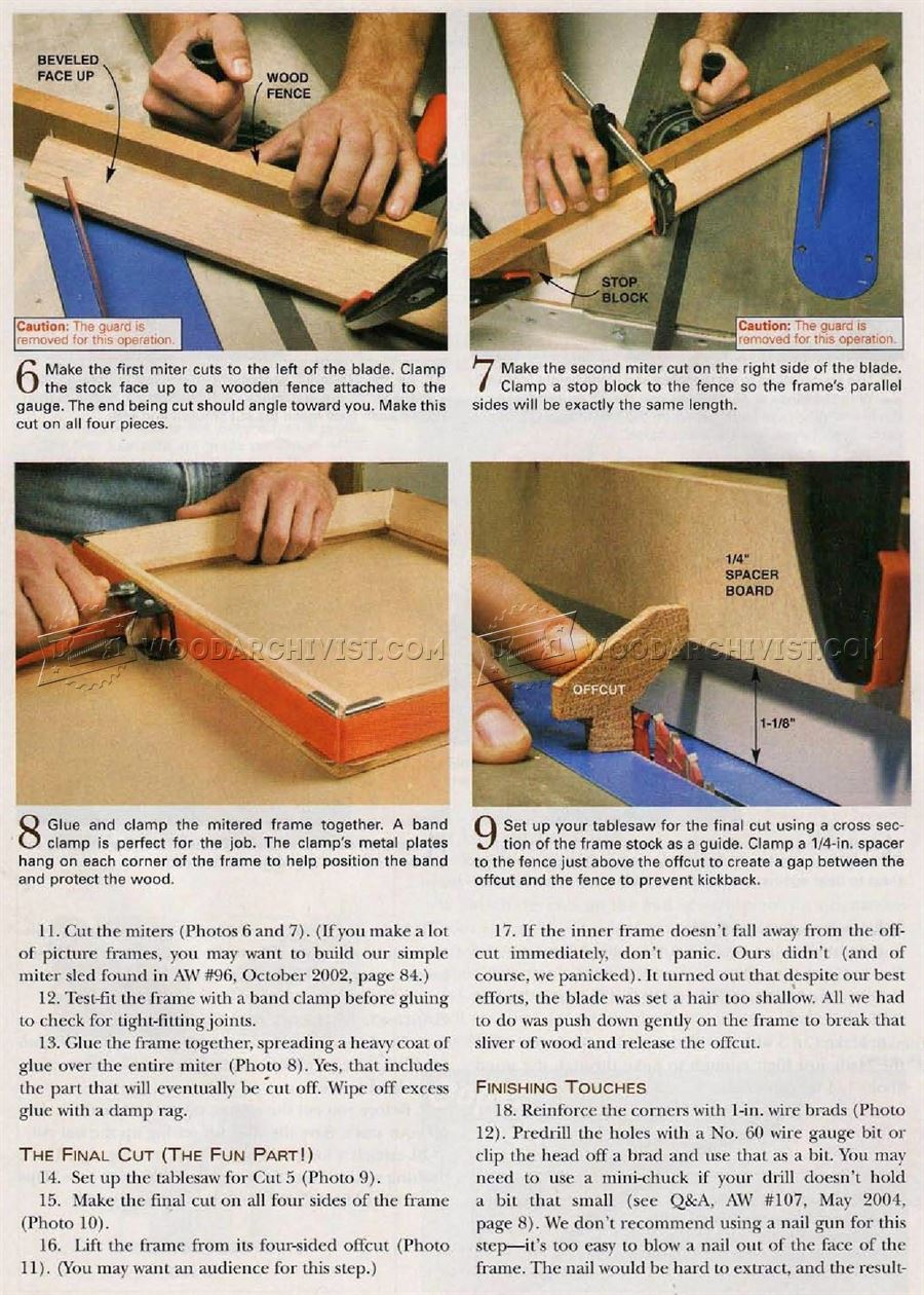 Table Saw Picture Frame
